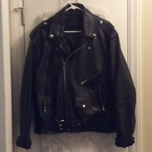 Other - LEATHER BOMBER MOTORCYCLE JACKET